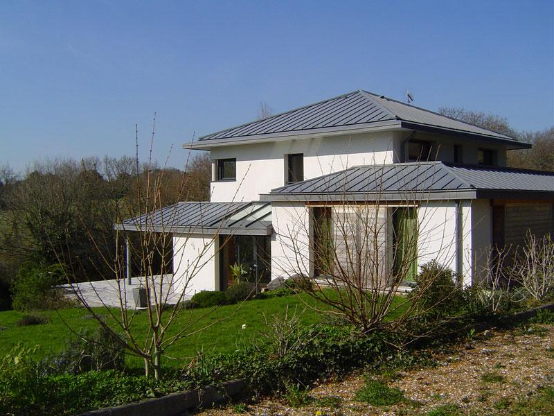 zp 07 toiture en zinc quartz benodet architecte l 39 ollivier pont l 39 abb. Black Bedroom Furniture Sets. Home Design Ideas